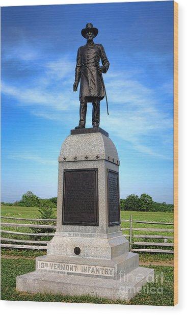 Gettysburg National Park 13th Vermont Infantry Memorial Wood Print