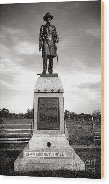 Gettysburg National Park 13th Vermont Infantry Monument Wood Print