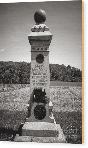 Gettysburg National Park 147th New York Infantry Monument Wood Print