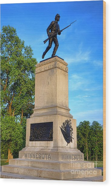 Gettysburg National Park 1st Minnesota Infantry Memorial Wood Print