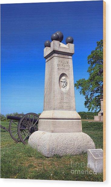 Gettysburg National Park 2nd Maine Battery Memorial Wood Print