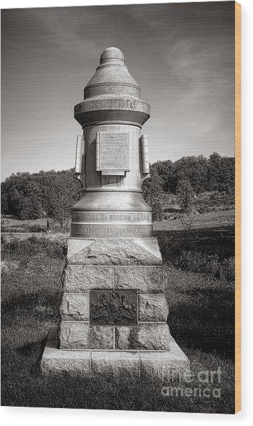 Gettysburg National Park 30th Pennsylvania Infantry Monument Wood Print