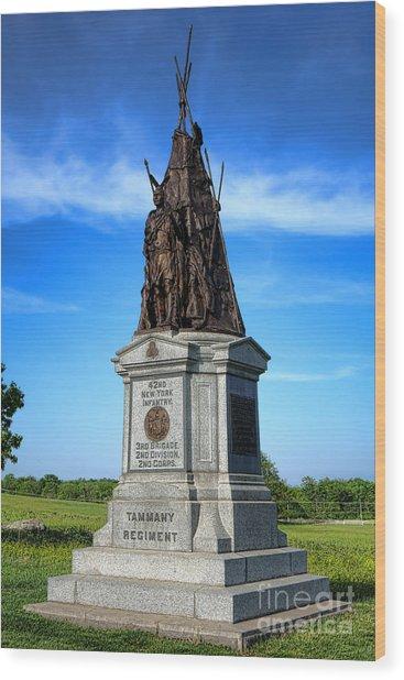 Gettysburg National Park 42nd New York Infantry Memorial Wood Print