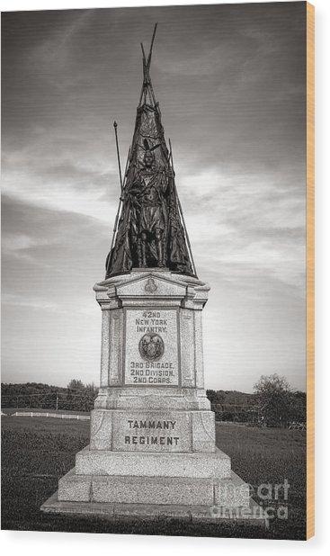 Gettysburg National Park 42nd New York Infantry Monument Wood Print