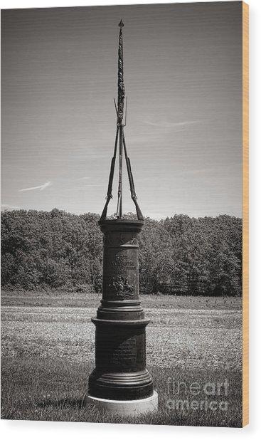 Gettysburg National Park 56th Pennsylvania Infantry Monument Wood Print