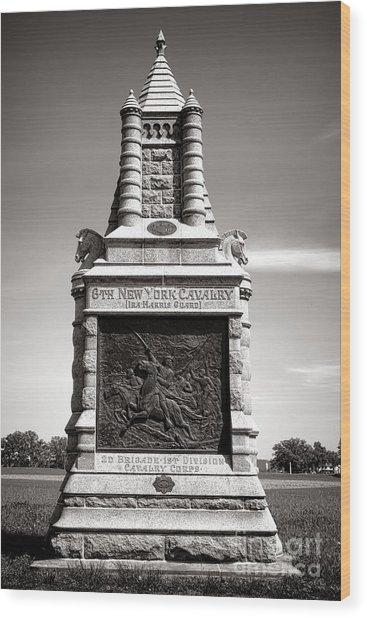 Gettysburg National Park 6th New York Cavalry Monument Wood Print