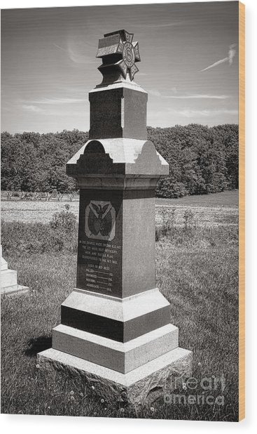 Gettysburg National Park 6th Wisconsin Iron Brigade Monument Wood Print
