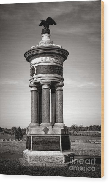 Gettysburg National Park 71st And 72nd New York Infantry Monument Wood Print