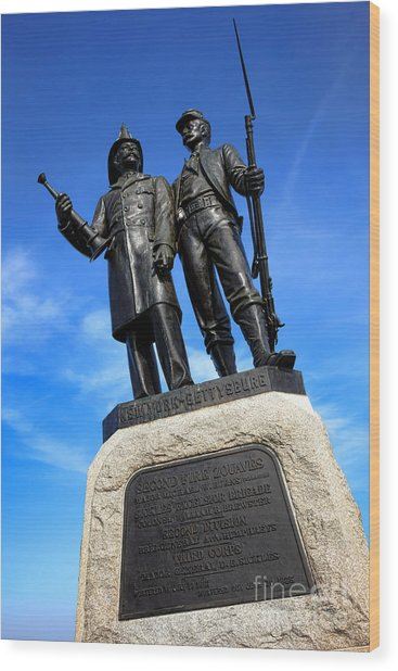 Gettysburg National Park 73rd Ny Infantry Second Fire Zouaves Memorial Wood Print