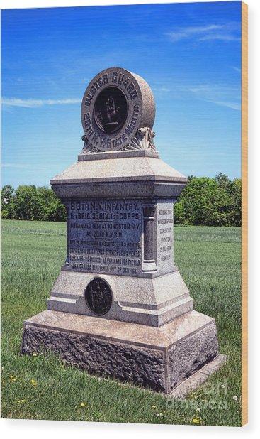 Gettysburg National Park 80th Ny Infantry Militia Memorial Wood Print