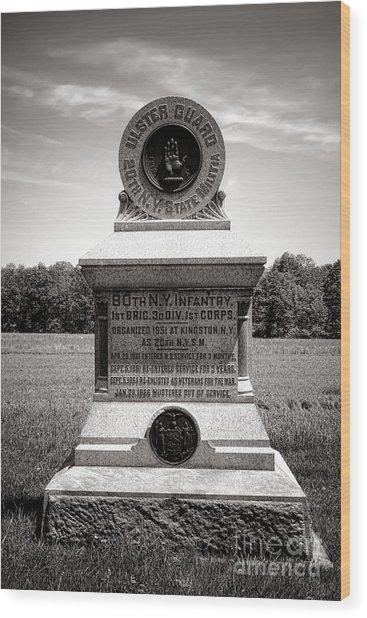 Gettysburg National Park 80th New York Infantry Militia Monument Wood Print