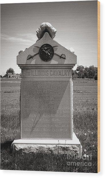 Gettysburg National Park 8th Illinois Cavalry Monument Wood Print