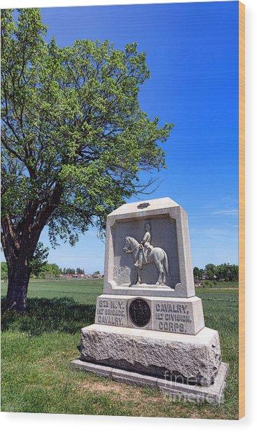 Gettysburg National Park 8th New York Cavalry Memorial Wood Print