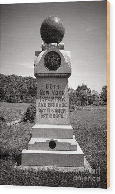 Gettysburg National Park 95th New York Infantry Monument Wood Print