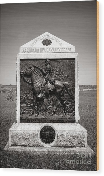 Gettysburg National Park 9th New York Cavalry Monument Wood Print