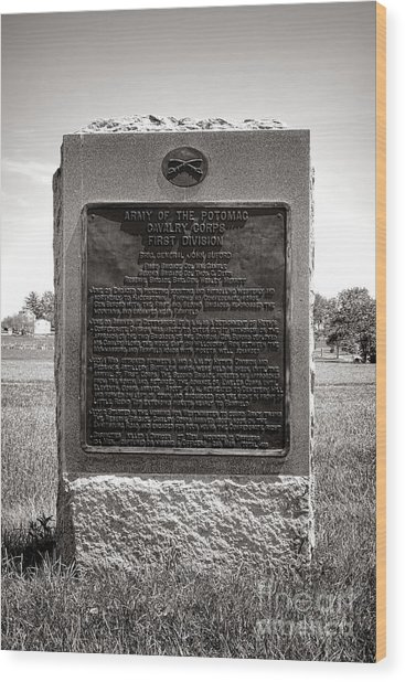 Gettysburg National Park Army Of The Potomac Cavalry Corps Monument Wood Print