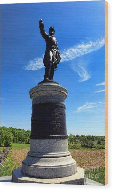 Gettysburg National Park James Samuel Wadsworth Memorial Wood Print