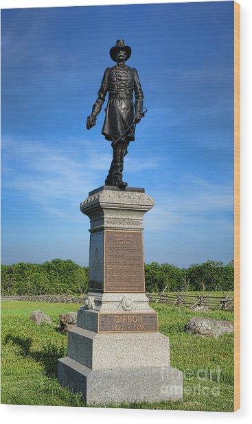 Gettysburg National Park John Gibbon Memorial Wood Print