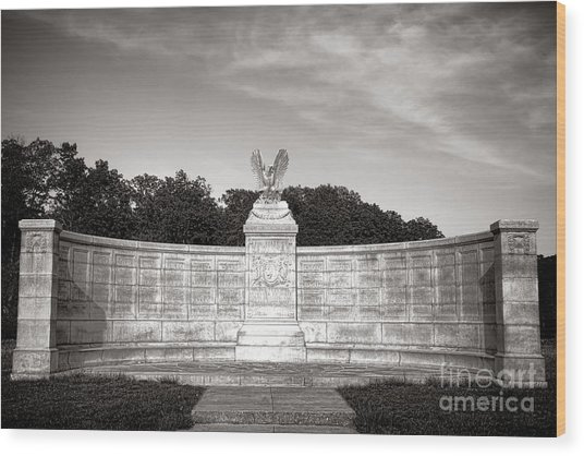 Gettysburg National Park New York Auxiliary Monument Wood Print
