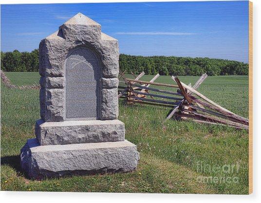 Gettysburg National Park Third West Virginia Cavalry Memorial Wood Print