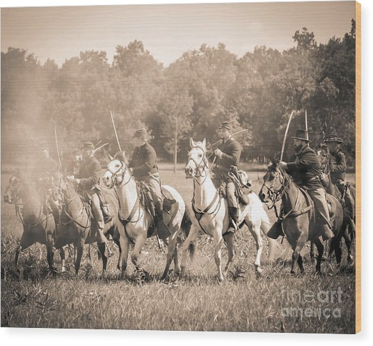 Gettysburg  Union Cavalry 7901s  Wood Print