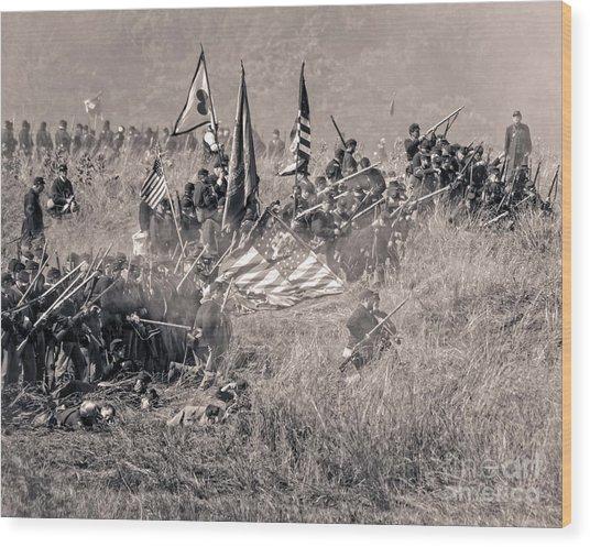 Gettysburg Union Infantry 8963s Wood Print
