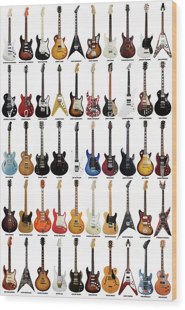 Guitar Legends Wood Print