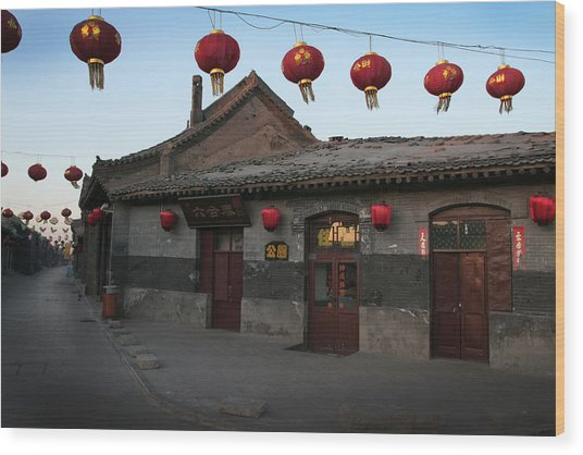 Ghost Town On The Eve The Chinese New Year Wood Print