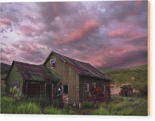 Ghost Town Sunset 1 Wood Print