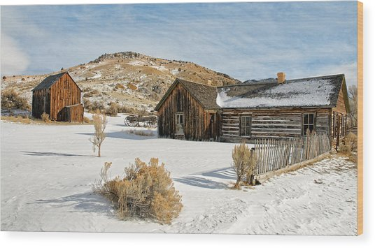Ghost Town Winter Wood Print