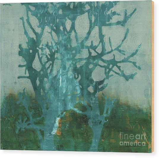 Ghost Tree Wood Print