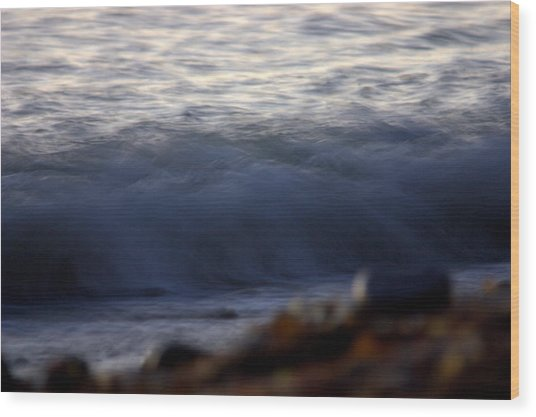 Ghost Wave Wood Print by Brad Scott