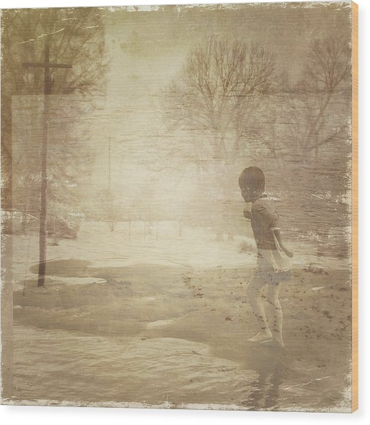 Ghosts And Shadows Vi - Mistaken Wood Print