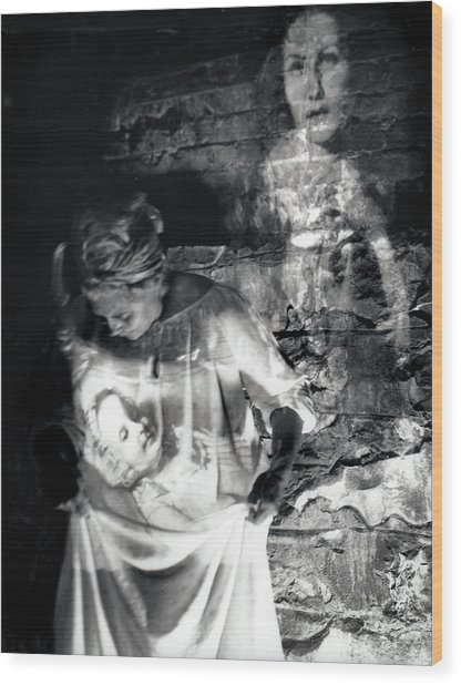 Ghosts Colonial 1 Wood Print