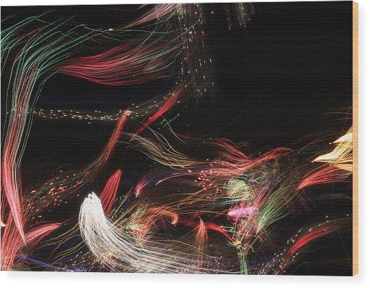 Ghosts Of Fireworks Past Wood Print by Jonathan Kotinek