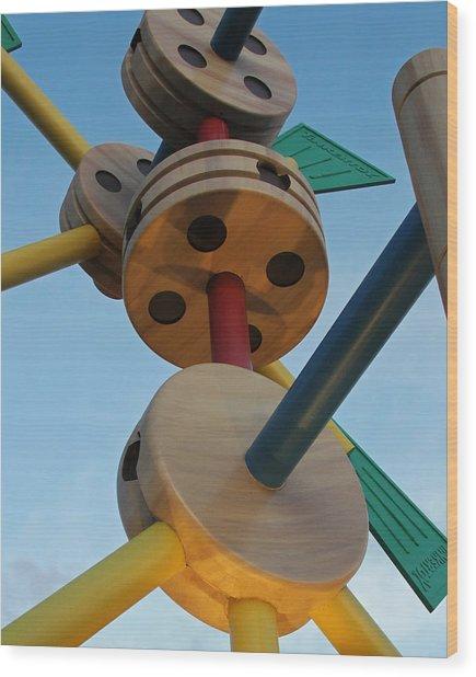 Giant Tinker Toys Wood Print