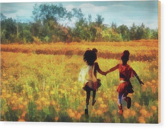 Gia's Field Of Dreams Wood Print