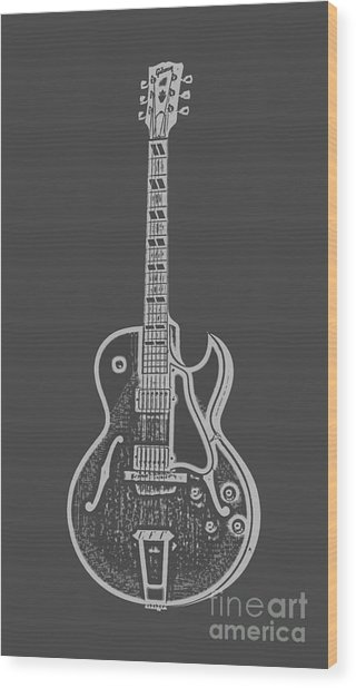 Gibson Es-175 Electric Guitar Tee Wood Print