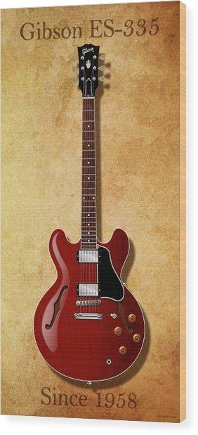 Gibson Es-335 Since 1958 Wood Print
