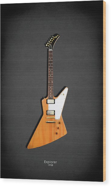 Gibson Explorer 1958 Wood Print