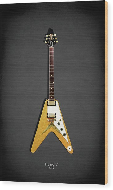 Gibson Flying V Wood Print