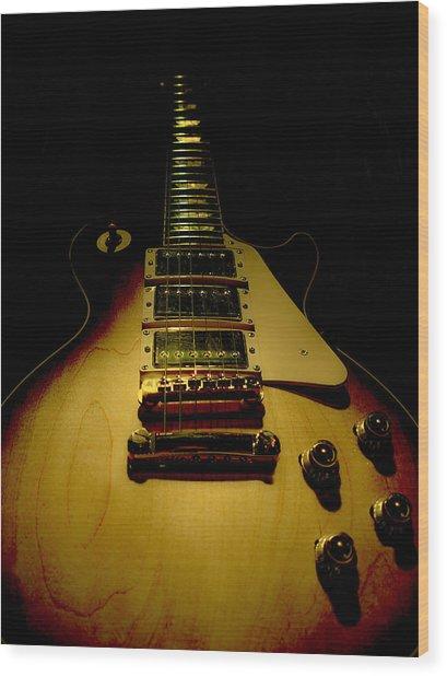 Guitar Triple Pickups Spotlight Series Wood Print