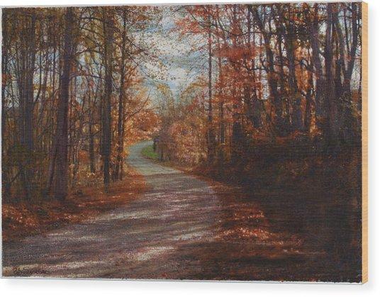 Gibson Ridge Road Wood Print