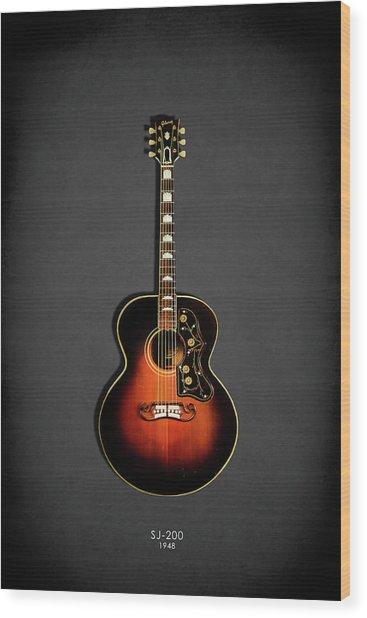 Gibson Sj-200 1948 Wood Print