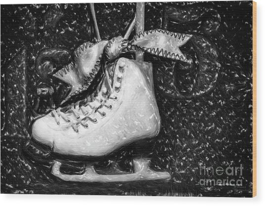 Gift Of Ice Skating Wood Print