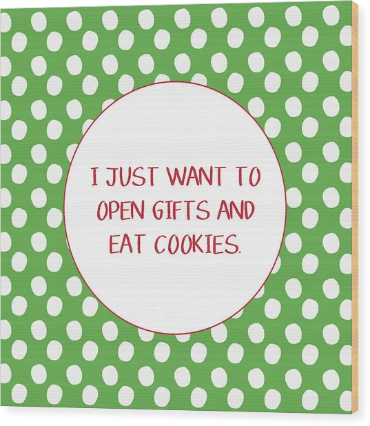 Gifts And Cookies- Art By Linda Woods Wood Print