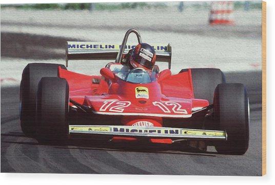 Gilles Villeneuve, Ferrari Legend - 01 Wood Print