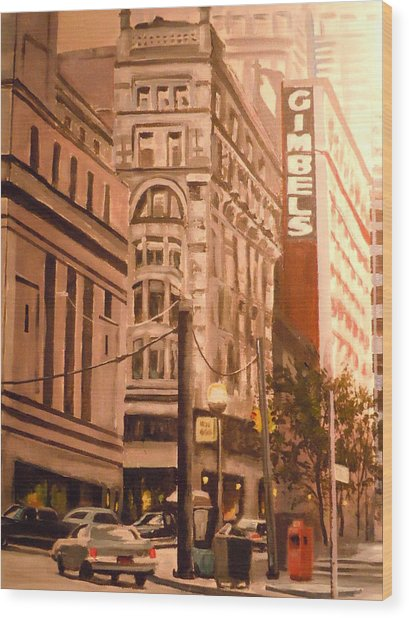 Gimbels In Pittsburgh Wood Print