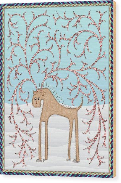 Ginger Cane Wood Print