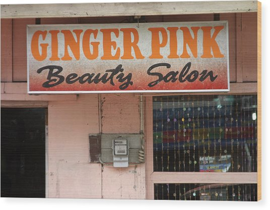 Ginger Pink Wood Print by Jez C Self